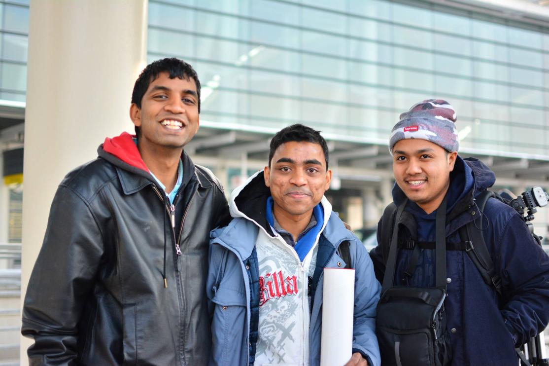 Wandmakers from left Kajendra, Chitii, Sonal